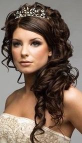 Hairstyles For Long Hair Debutante : Hair Style 1 WEDDING: Hair Style Pinterest