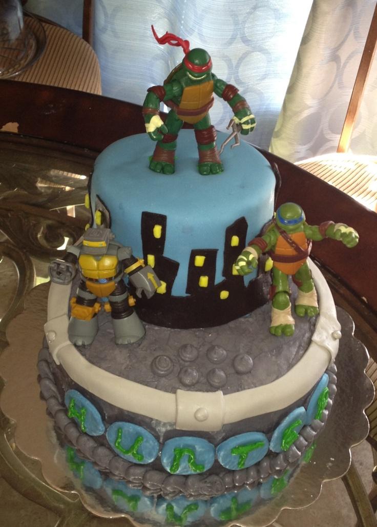 Ninja Turtle Cake  Marshall party supplies  Pinterest