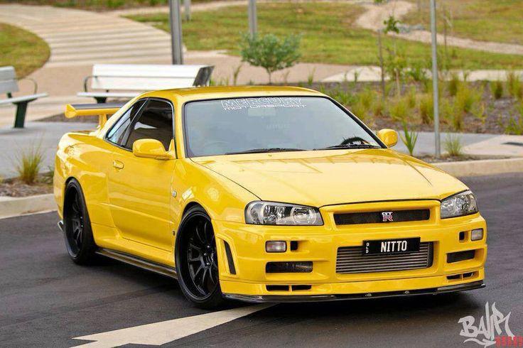 Nissan Skyline R34 Yellow Nissan Skyline R34 Pinterest