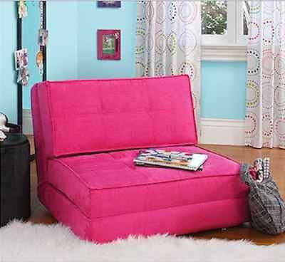 flip out chair convertible sofa dorm teen room bedroom sleeper bed lo