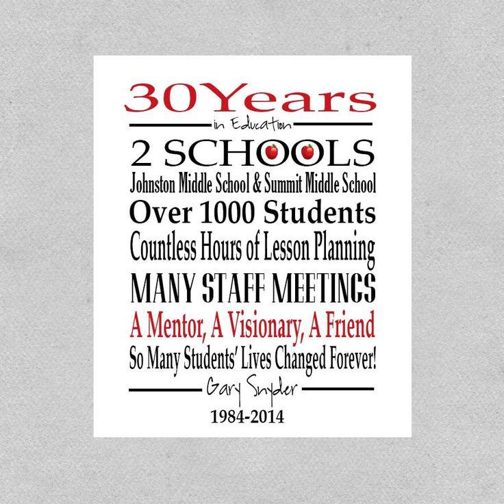 Teacher Retirement Gift Retired Teacher Gift by DaizyBlueDesigns, $10 ...