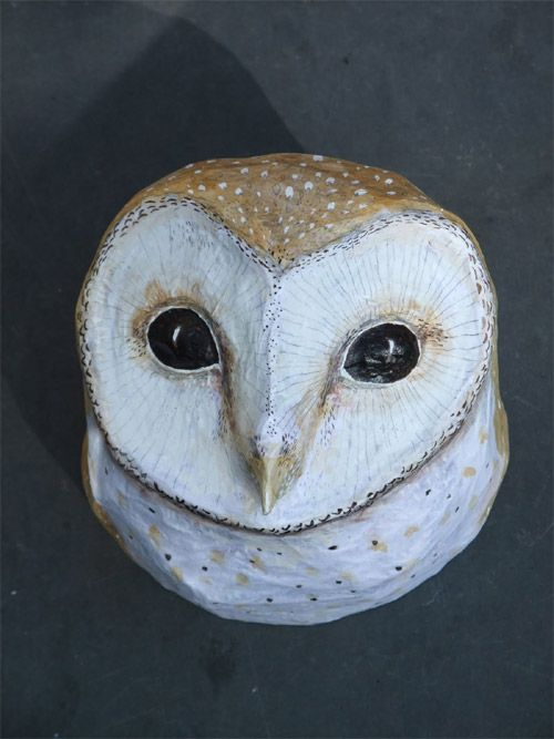 emily warren papier mache owl owls pinterest