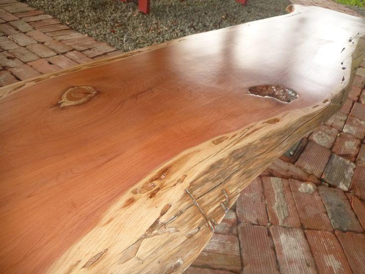 Live edge solid hardwood cedar wood slab natural color for Wood slab ideas