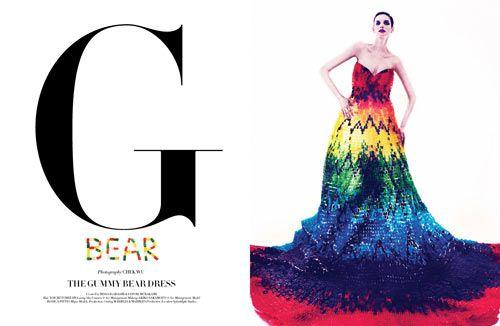 McQueen Rainbow Dress Goes Yummy out of Gummi Bears! http://thefairytalefair.wordpress.com/