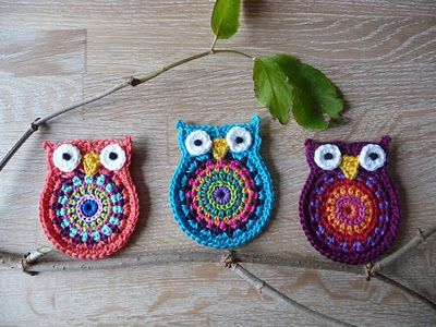 Crochet Owl Applique