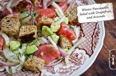 Winter Panzanella Salad with Grapefruit, Fennel and Avocado ...