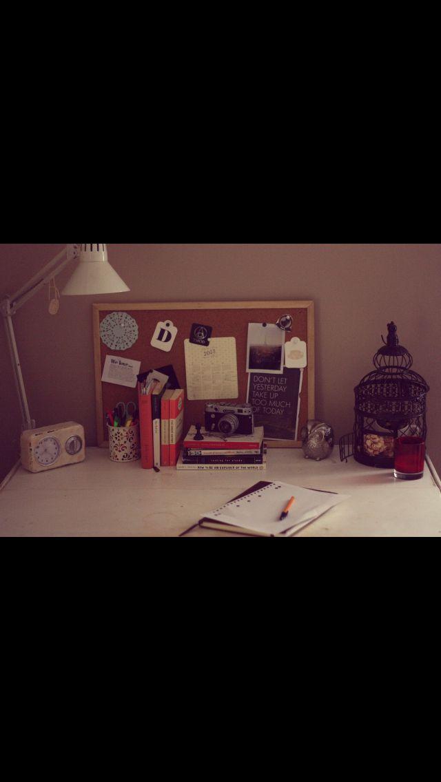 Tumblr desk Hipster bedrooms