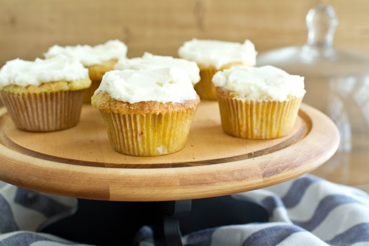 Naturally Ella | Roasted Peach Cupcake with Vanilla Buttercream ...