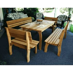 picnic table style dining set for the home pinterest. Black Bedroom Furniture Sets. Home Design Ideas