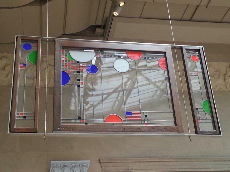 Lloyd Wright     Art Frank Lloyd Wright Chicago Stained glass Circles    Frank Lloyd Wright Stained Glass Circles
