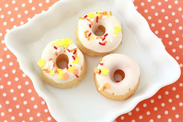 Pumpkin cardamom donuts: they're mini, covered in sprinkles, and ...