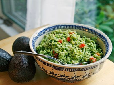 Avocado-Basil Rice with Tomatoes. I'm definitely going to have to try ...