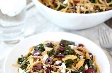 Pasta with Kale, Kalamata Olives, Dried Cranberries, Toasted Garlic ...
