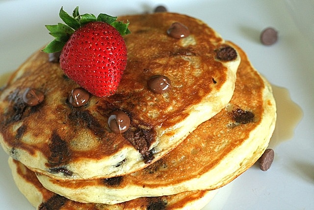 chocolate chip pancakes by annieseats, via Flickr Made these and they ...