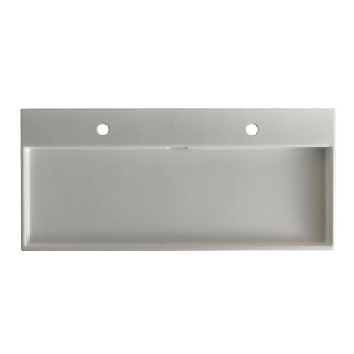 ... 100 White ADA Wall Mount or Countertop Bathroom Sink with Two Holes