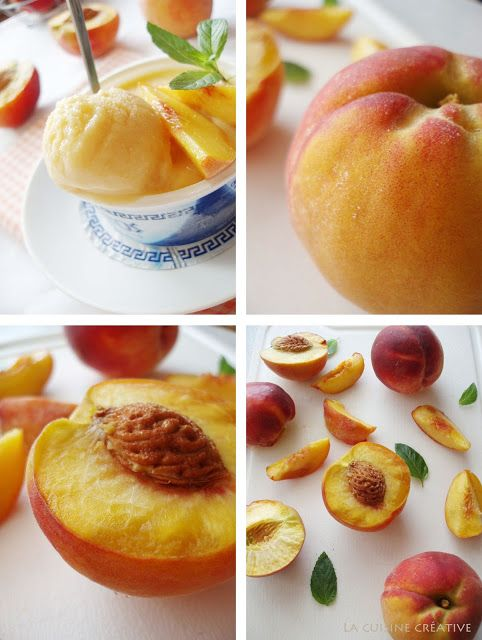 Peach frozen yogurt | Yummies | Pinterest