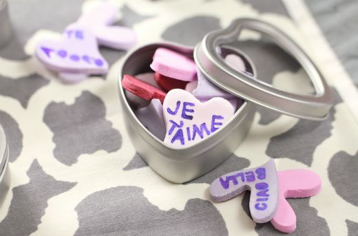Homemade Candy Conversation Hearts - The Kitchenthusiast