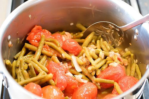 Spanish Green Beans with Tomatoes - Delicious way to fix green beans ...