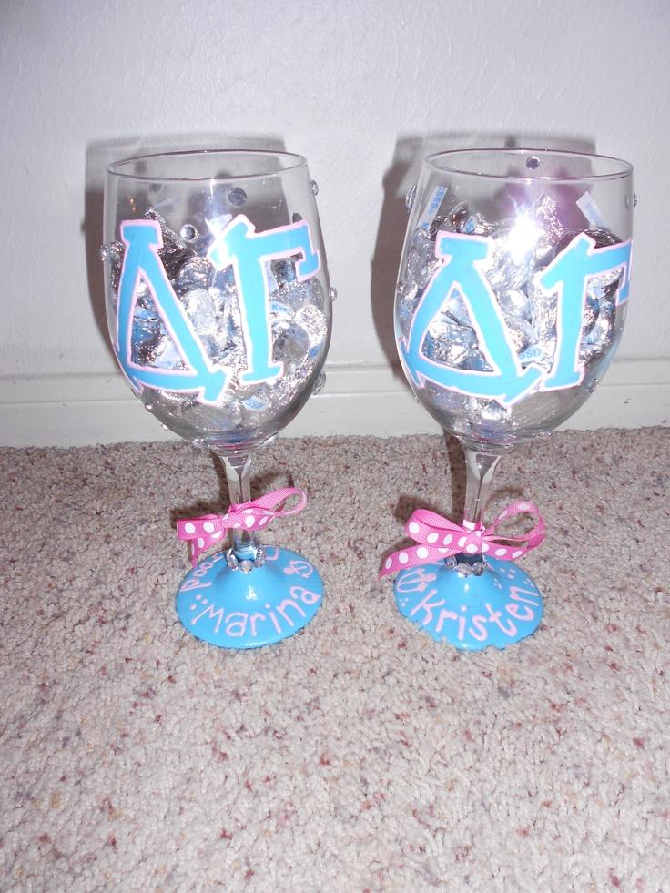 Dg Wine Glasses I Made For My Amazing Roomie Kristen