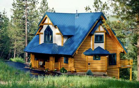 Pin by brenda thayer on log homes pinterest Cabins with metal roofs