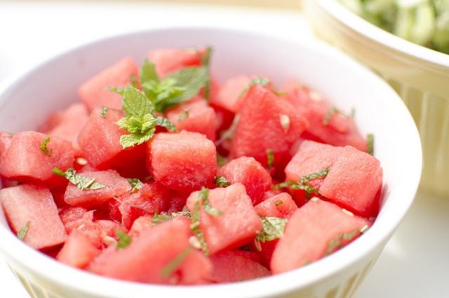 watermelon mint salad! | Food | SALADES | Pinterest