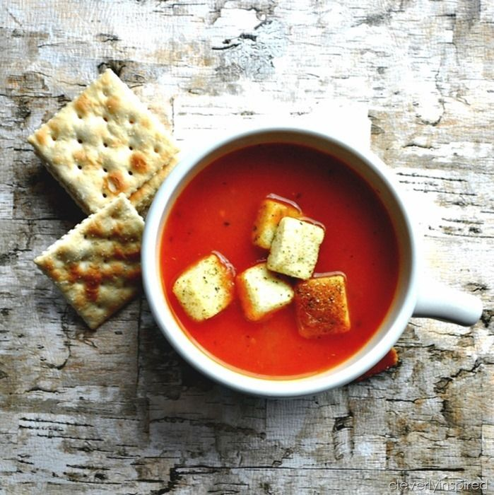 Simple Tomato Soup Recipe | Healthy Eating Plan | Pinterest