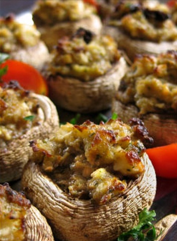 marie Sundried Tomato Stuffed Mushrooms