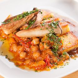 Pan-Fried Polenta with Chickpeas | FOODOLOGY | Pinterest