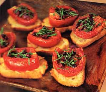 ... roast tomato crostini with za atar spread tomato crostini recipes