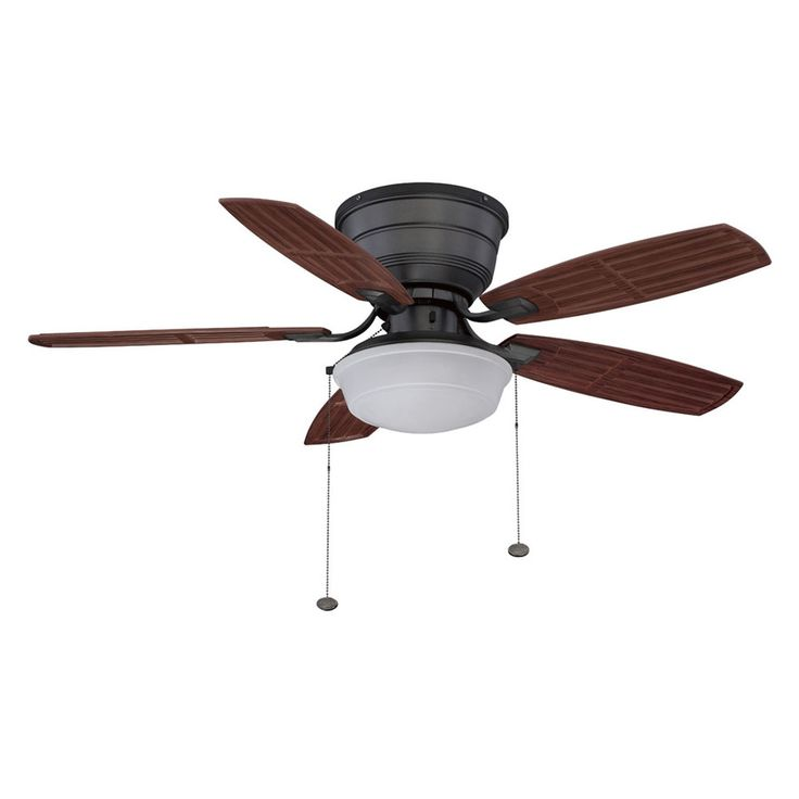 ... Iron Outdoor Flush Mount Ceiling Fan with Light Kit at Lowes.com