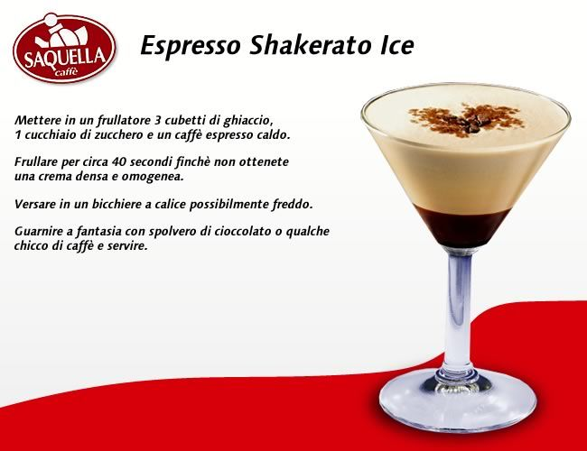 Espresso Shakerato Ice | simple drinks | Pinterest