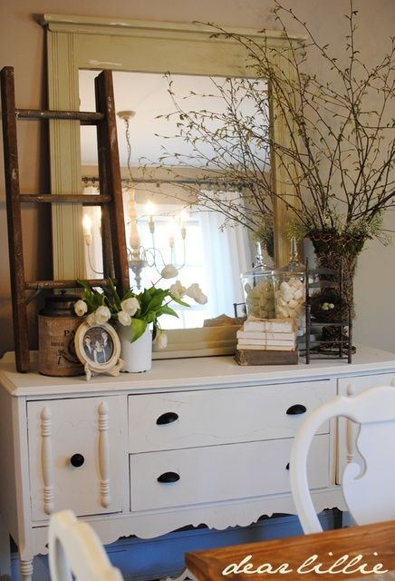 how to decorate a dining room hutch the kitchen pinterest On how to decorate a dining room hutch