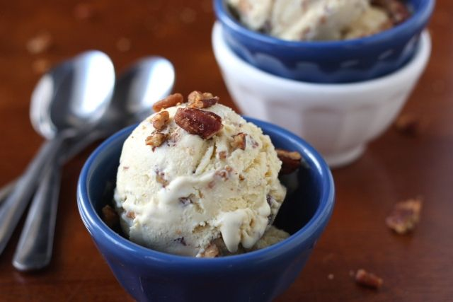 Completely Delicious' Butterscotch Pecan Ice Cream (adapted from David ...