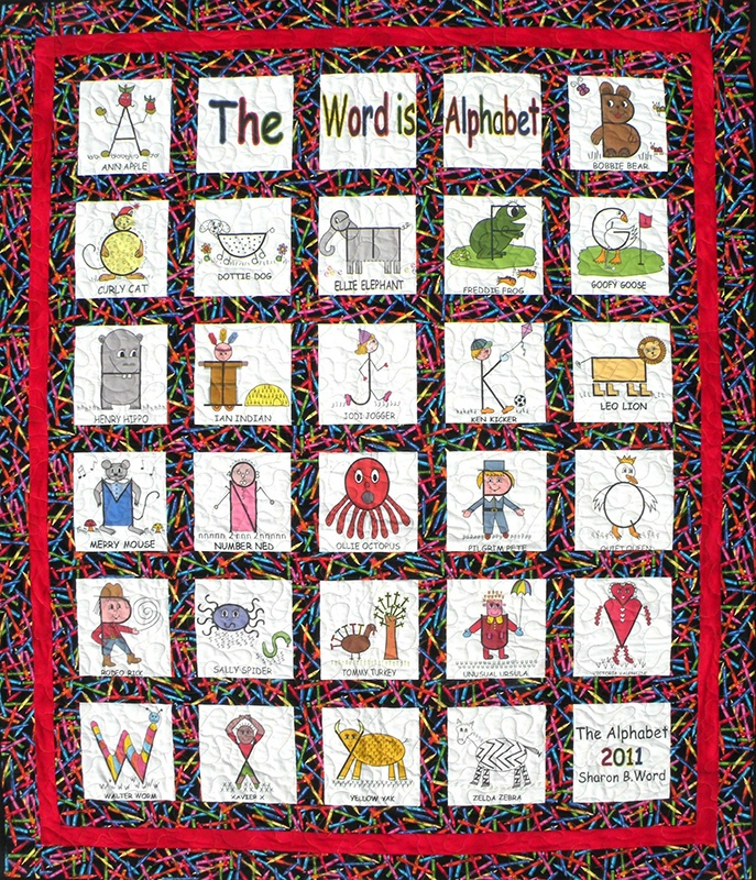 The Word is Alphabet Quilt Pattern Quilts- Alphabet Pinterest
