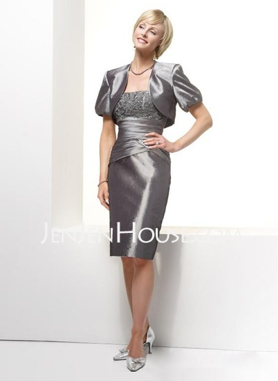 Mother of the Bride Dresses - $125.59 - Sheath Strapless Knee-Length ...