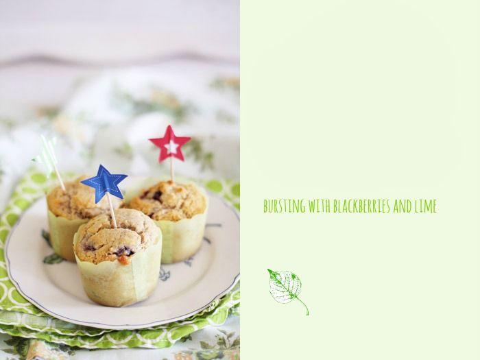 Blackberry lime muffins (vegan) | Muffin | Pinterest