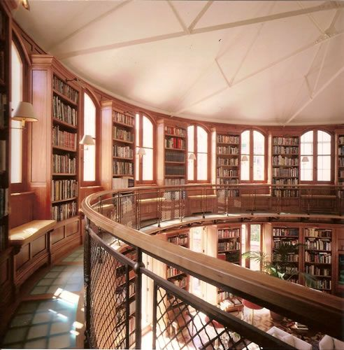 This unidentified library constructed by candour ltd a for The balcony book