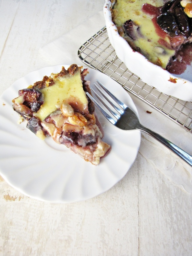Fig and almond custard tart | Pies, tarts, and cobblers | Pinterest