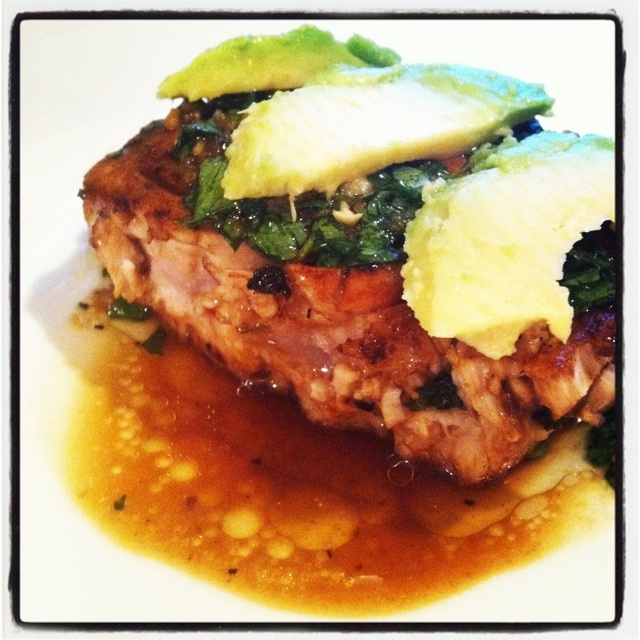 Seared miso glazed tuna