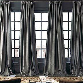 Royal Velvet® Grandeur Silk Rod-Pocket/Back-Tab Curtain Panel on shopstyle.com