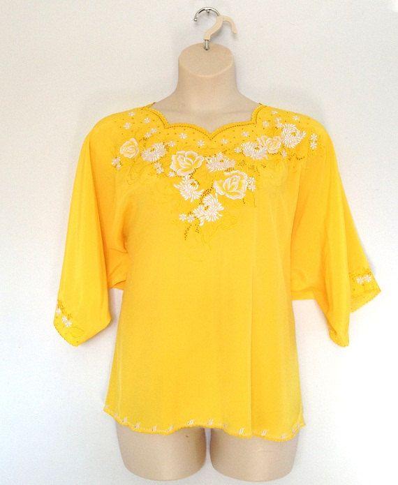 Yellow Blouses Plus Size 102