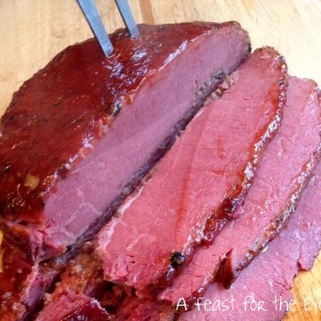 Roasted & Glazed Corned Beef Brisket with Quick Braised Cabbage