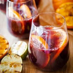 Summer Sangria with Grilled Citrus...I would love this right now ...