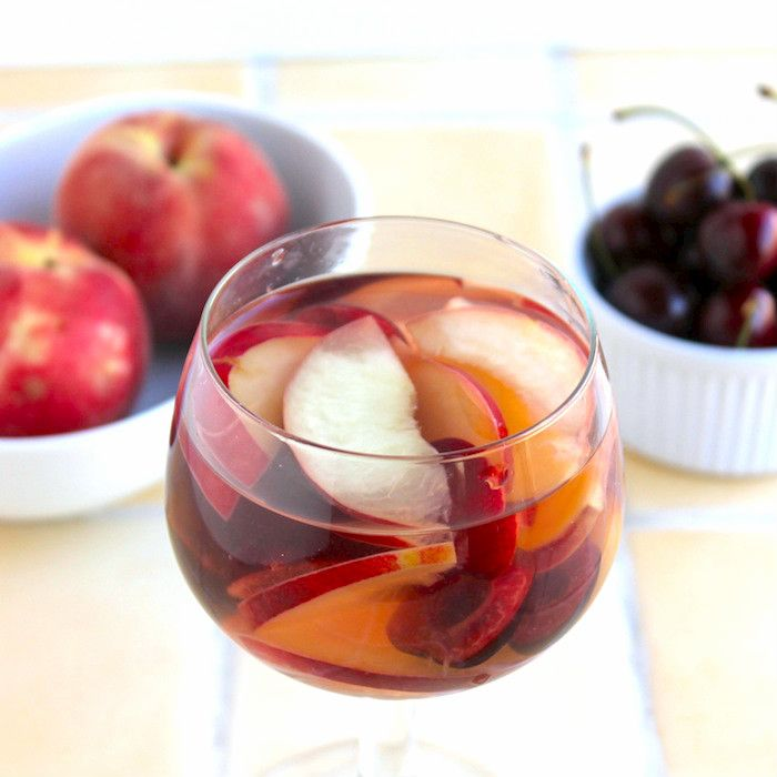 stone fruit sangria (extra summer in my sangria)