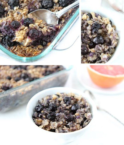 Baked Blueberry Coconut Oatmeal and serve with Greek yogurt