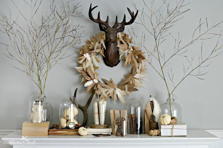 Craftberry Bush: Paper feather wreath tutorial
