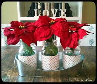 mason jar christmas centerpiece seasonal decor pinterest