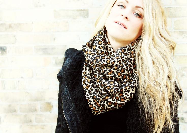 Leopard infinity scarf circle scarf eternity scarf loop scarf