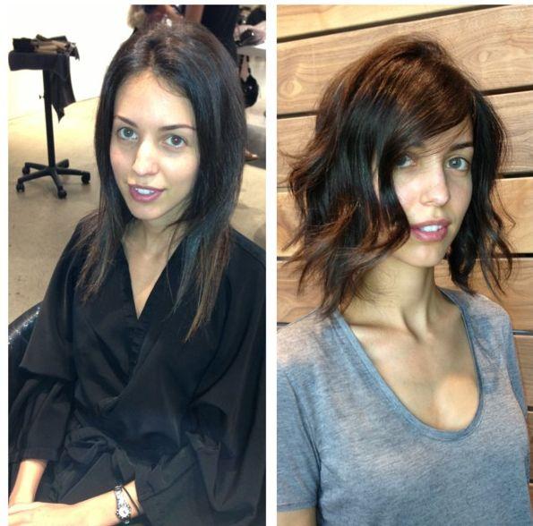 wavy angled bob | Hair-short | Pinterest