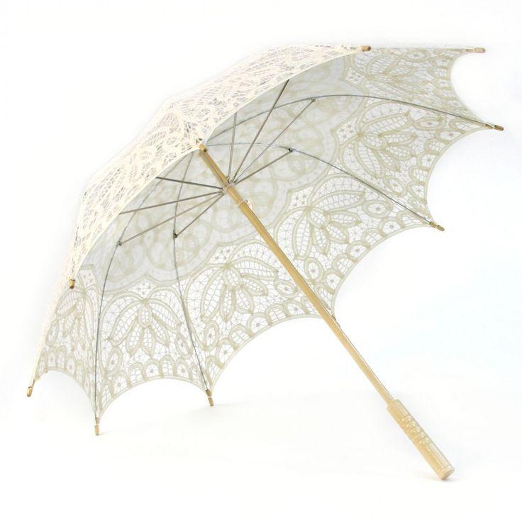 Victorian lace parasol umbrella ivory 404837 - Parasol prix discount ...